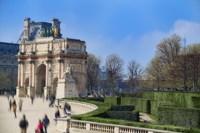 Arc de Triomphe du Carroussel and the Tuileries Garden Fine Art Print
