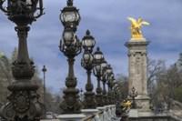 Art Nouveau Lamps Posts on Pont Alexandre III - I Fine Art Print