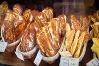 Bread in a Bakery Window Fine Art Print