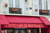 Cafe on Montmartre Fine Art Print