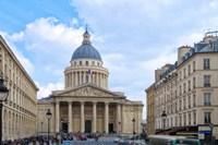 Le Pantheon And Sorbonne University Fine Art Print
