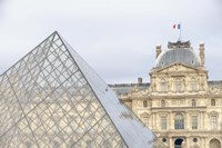 Louvre Palace And Pyramid II Fine Art Print
