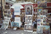 Monmartre Artist Working On Place du Tertre II Fine Art Print