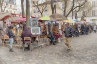 Monmartre Artist Working On Place du Tertre IV Fine Art Print