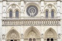 Notre Dame Facade Details I Fine Art Print