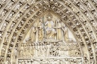Notre Dame Facade Details II Fine Art Print