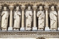 Notre Dame Facade Details III Fine Art Print