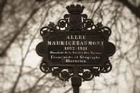 Paris Street Name Sign Fine Art Print
