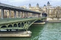 Pont de Bir Hakeim And Seine Fine Art Print