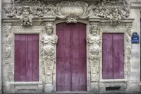 Sculptured Facade In Le Marais Fine Art Print