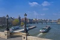 The Pont Neuf And Seine River Fine Art Print