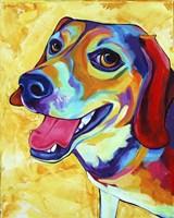 Beagle Dog Lucy Lu Fine Art Print