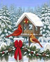 Cardinals Christmas Feast Fine Art Print