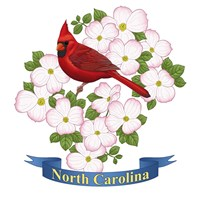 State Bird And Flower NC Fine Art Print