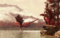 Autumn Dragons Fine Art Print