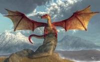 Fire Dragon Fine Art Print