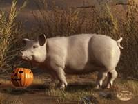 Halloween Pig Fine Art Print