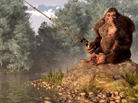 Squatch Fishing Fine Art Print