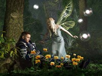 The Knight And The Faerie Fine Art Print