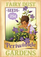 Periwinkle Seeds Fine Art Print