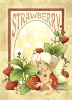Strawberry Fairy Fine Art Print