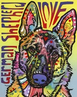 German Shepherd Love Fine Art Print