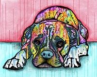 Lying Boxer Fine Art Print