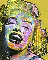 Golden Marilyn Fine Art Print