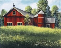 Red Barn Summer 1 Fine Art Print