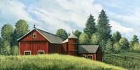 Red Barn Summer 2 Fine Art Print