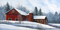 Red Barn Winter Fine Art Print