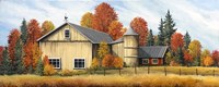 Yellow Barn Fall Fine Art Print
