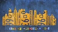 Philly Skyline License Plate Art Fine Art Print