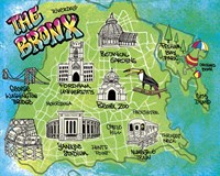 Bronx Map Fine Art Print