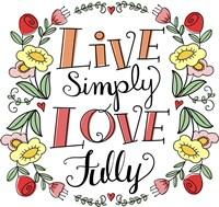 Love Simply Color Fine Art Print