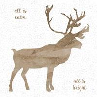 Natural Reindeer F Fine Art Print