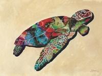 Contemporary Turtle I Fine Art Print