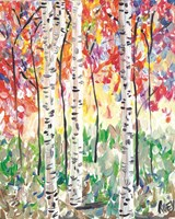 Colorful Birch Forest Fine Art Print