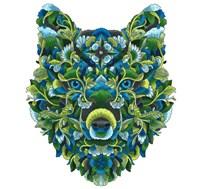 Blooming Animals - Wolf Fine Art Print