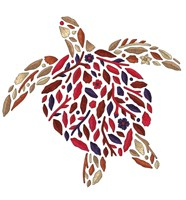 Blooming Animals - Turtle Fine Art Print
