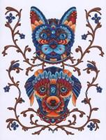 Animals Lovers - Cat & Dog Fine Art Print