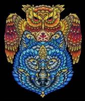 Animals Lovers - Owl & Wolf Fine Art Print