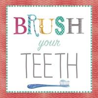 Brush Your Teeth Framed Print