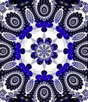 Mod Pod 1 Blue Fine Art Print