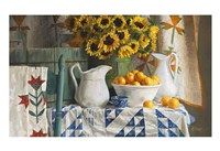 Calico with Sunflowers Fine Art Print