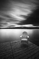 Vacationland (Three Stacked Chairs) Fine Art Print