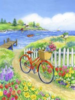 Bike Path in Spring Fine Art Print