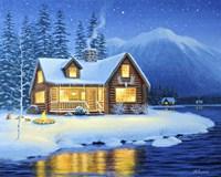 Starlight Cabin Fine Art Print