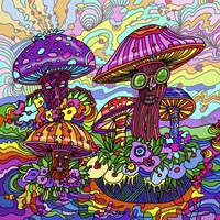 Pop Art - Mushrooms Fine Art Print