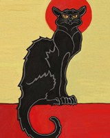 Black Cat Red Moon Fine Art Print